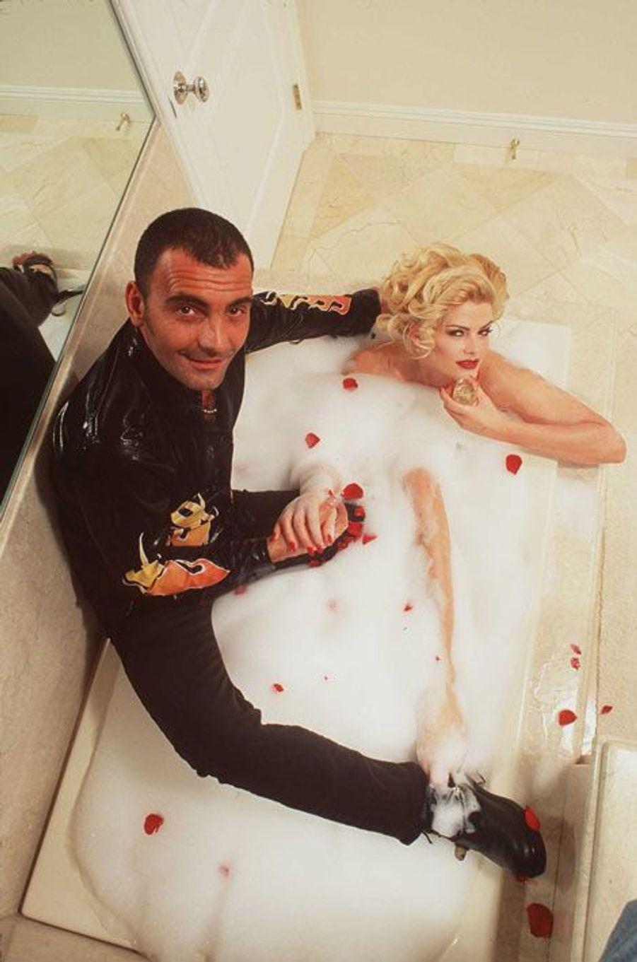 Avec Anna Nicole Smith