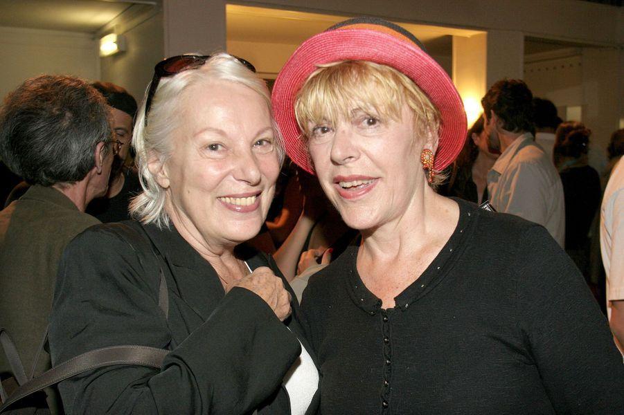 """Bernadette Lafont et Sylvie Joly à la générale de """"La Partition"""" en 2006"""