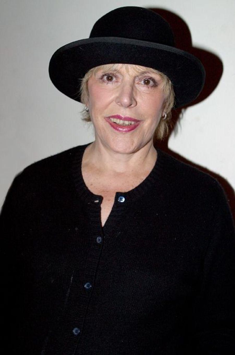 """Sylvie Joly au V.I.P Room pour la sortie du livre des 10 ans de """"Gala"""" en octobre 2003"""