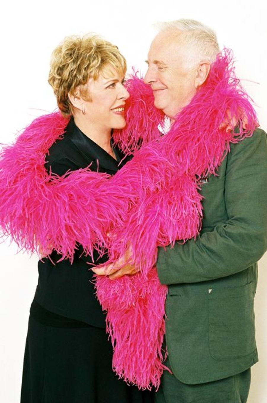 Sylvie Joly et son mari Pierre en septembre 2002