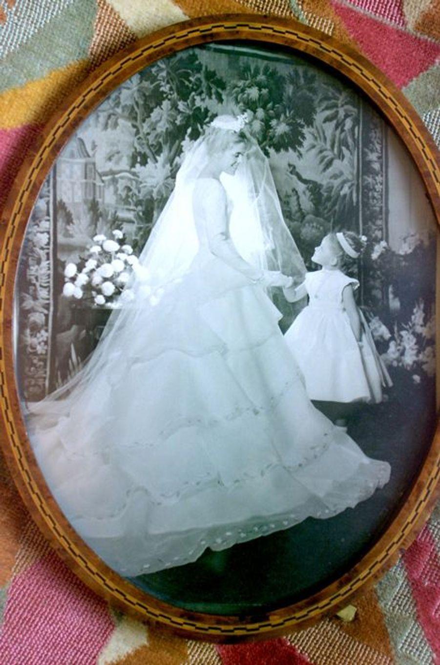 Sylvie Joly le jour de son mariage
