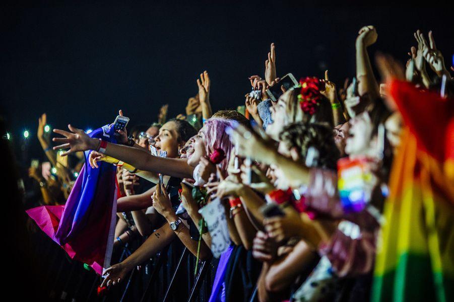 Harry Styles en concert à l'Olympia, le 25 octobre 2017.