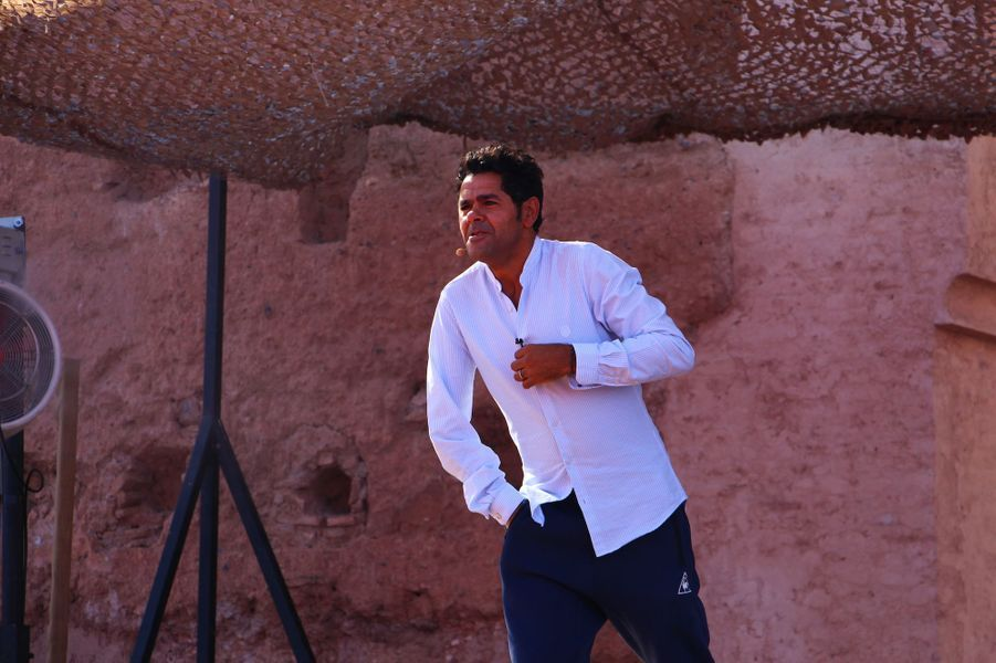 Jamel Debbouze lors des répétitions du gala du Marrakech du rire 2017, le 30 juin 2017 à Marrakech.
