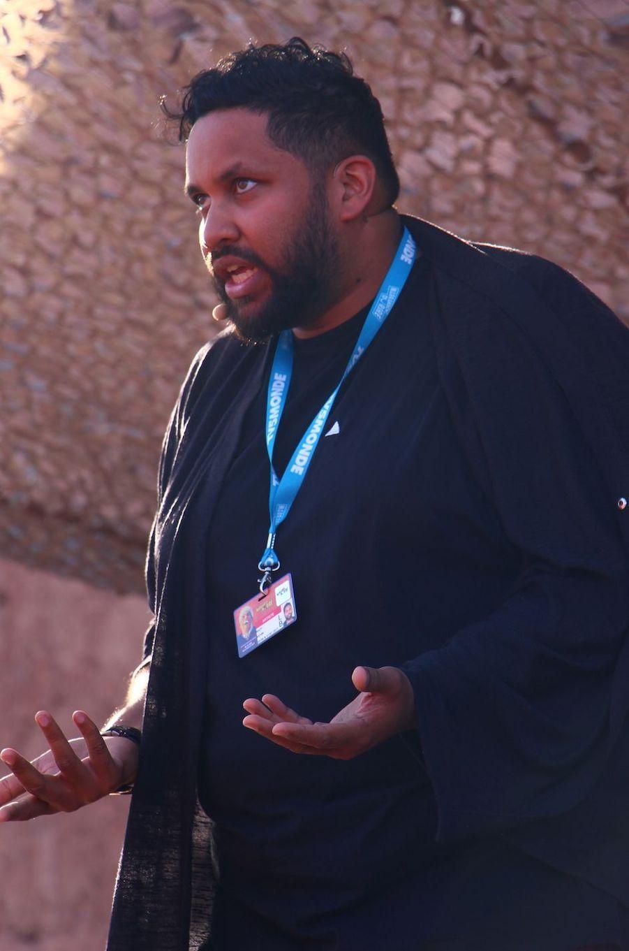 Kevin Razy lors des répétitions du gala du Marrakech du rire 2017, le 30 juin 2017 à Marrakech.