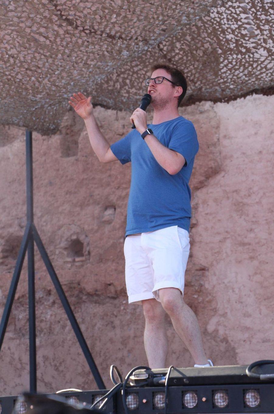 Paul Taylor lors des répétitions du gala du Marrakech du rire 2017, le 30 juin 2017 à Marrakech.