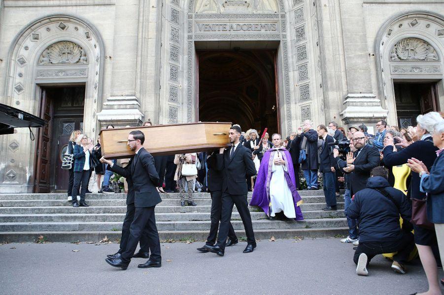 Le dernier adieu à Jean Piat, le vendredi 21 septembre 2018.