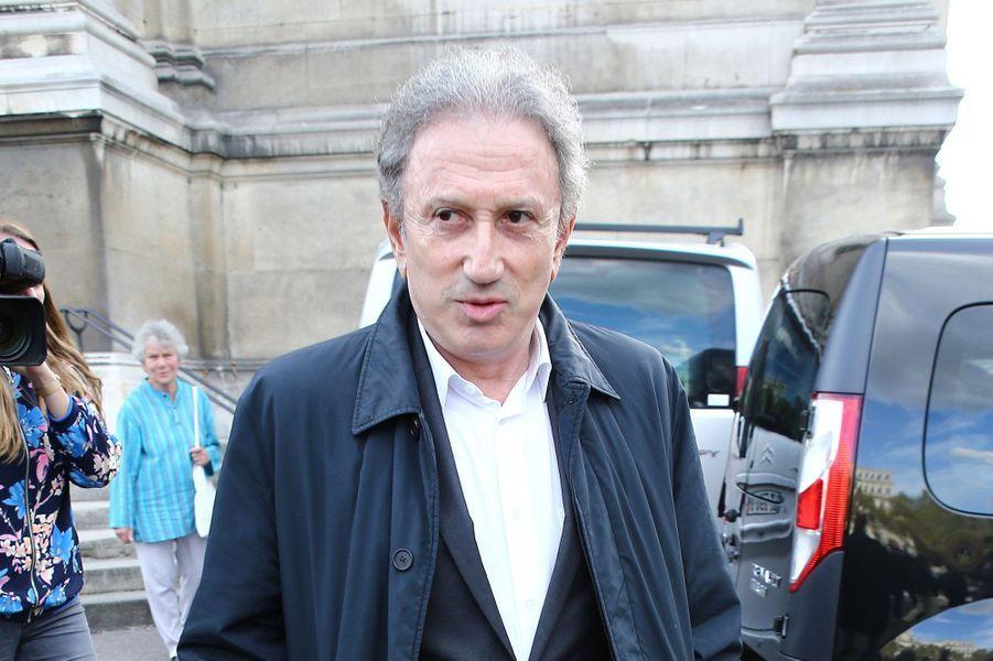 Michel Drucker aux obsèques de Jean Piat, le vendredi 21 septembre 2018.