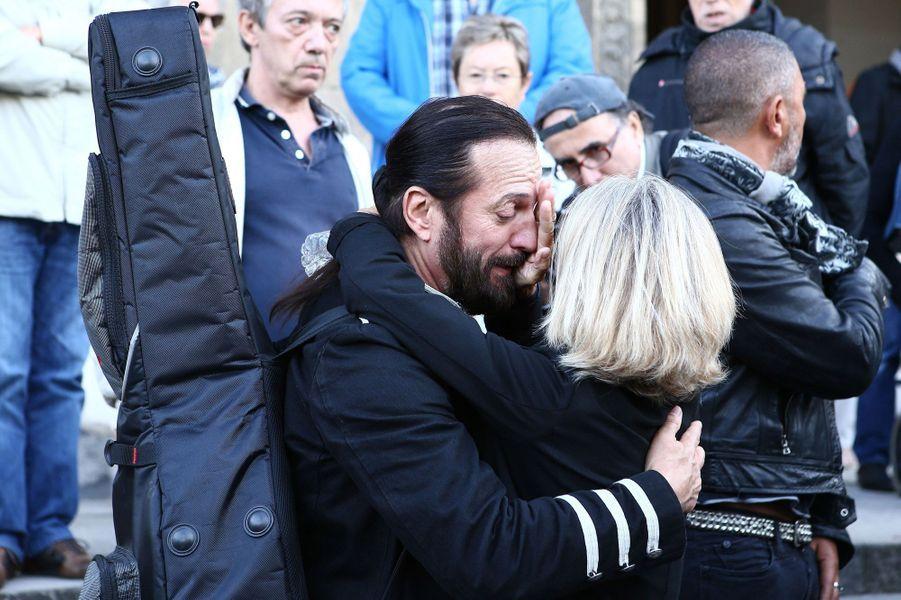 Francis Lalanne aux obsèques de Jean Piat, le vendredi 21 septembre 2018.
