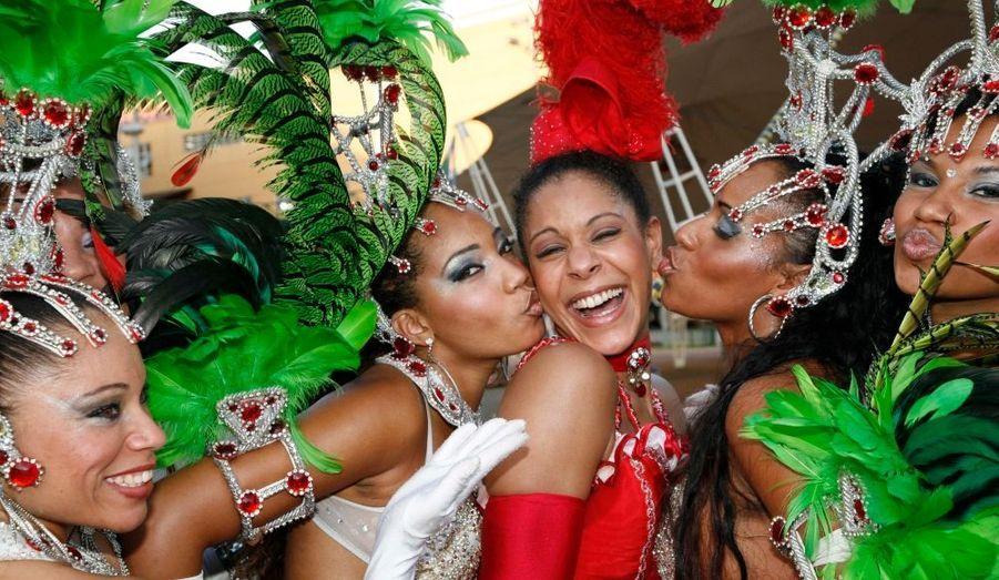 Audrey, l'unique métisse de la troupe, a conquis les artistes cariocas.