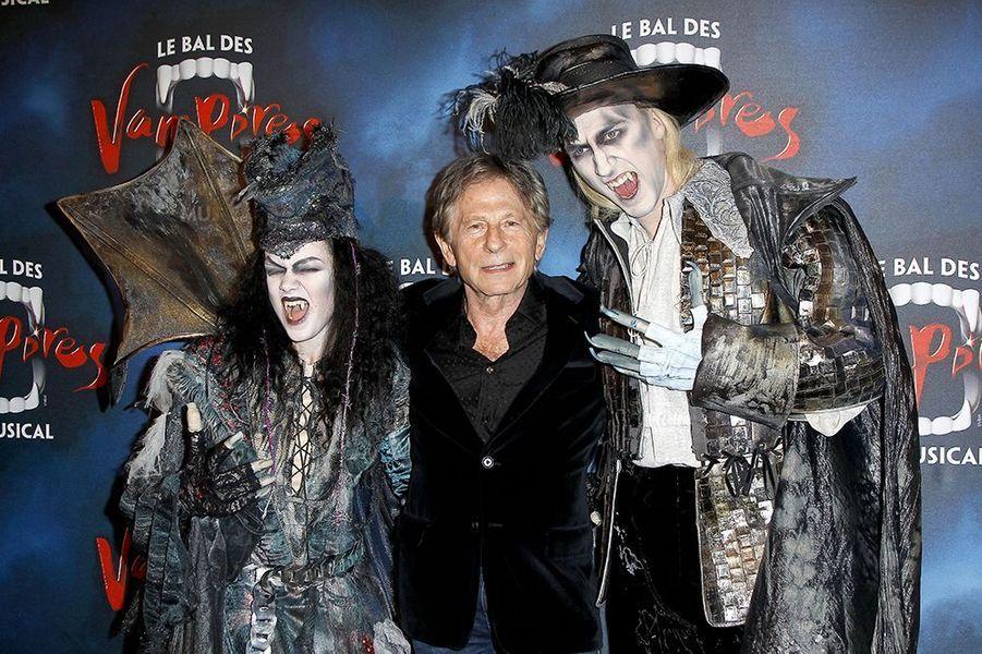 """Roman Polanski à la première de la comédie musicale """"Le Bal des Vampires"""" au théâtre Mogador le 16 octobre à Paris"""