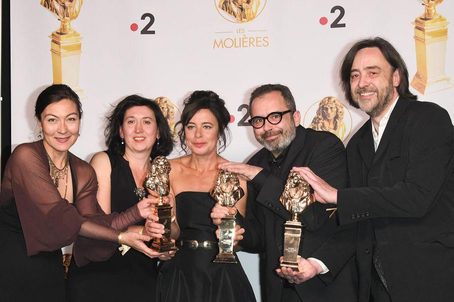 L'équipe de «La Mouche», mis en scène Valérie Lesort et Christian Hecq,Molière de la Création visuelle