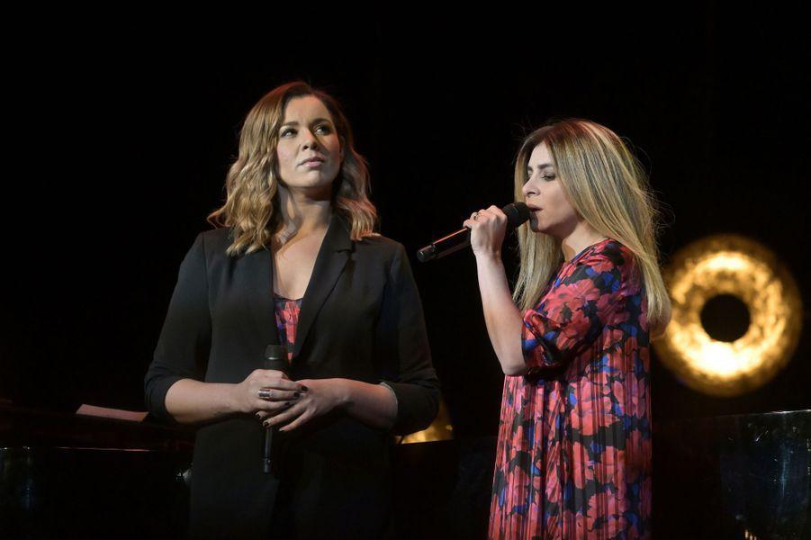 Chimène Badi et Julie Zenattilors de la6e édition de la Nuit de la déprime organisée au Casino de Paris le 11 février 2019