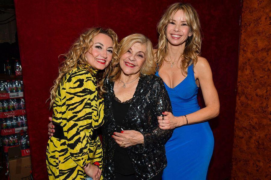 Christelle Chollet, Nicoletta et Romane Serdalors de la6e édition de la Nuit de la déprime organisée au Casino de Paris le 11 février 2019