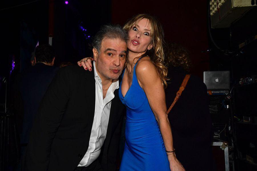 Raphaël Mezrahi et Romane Serdalors de la6e édition de la Nuit de la déprime organisée au Casino de Paris le 11 février 2019