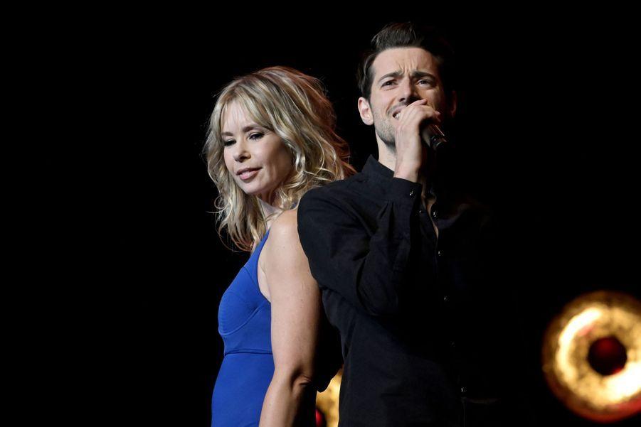 Romane Sarda et Jérémy Charvet lors de la6e édition de la Nuit de la déprime organisée au Casino de Paris le 11 février 2019