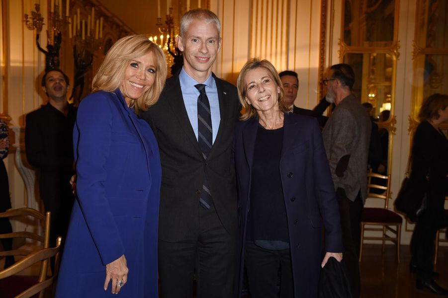 Brigitte Macron, Franck Riester et Claire Chazal.