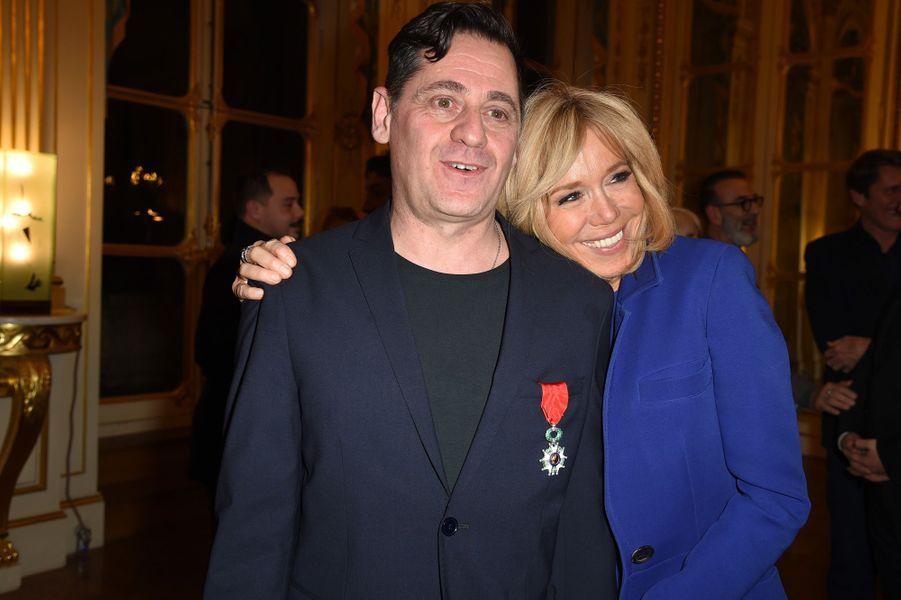 Olivier Py et Brigitte Macron.