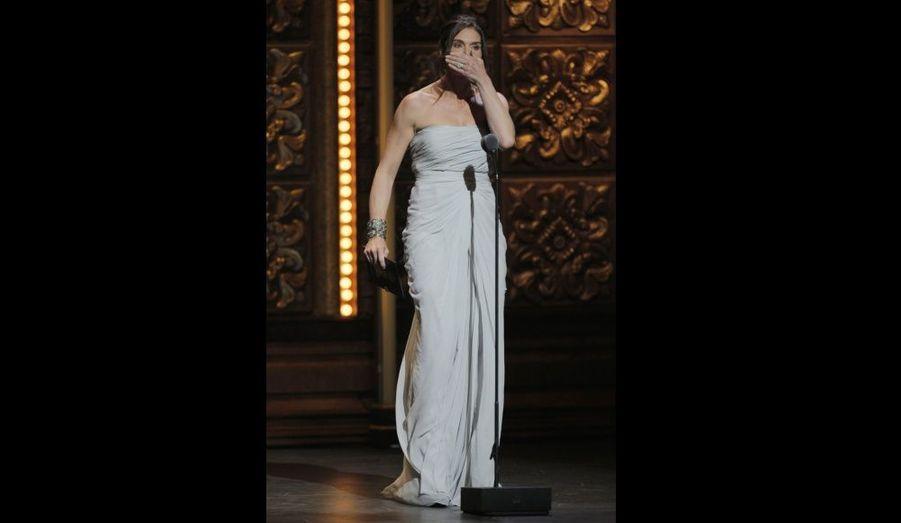 L'actrice a laissé échapper un juron alors qu'elle remettait un prix lors de la cérémonie.