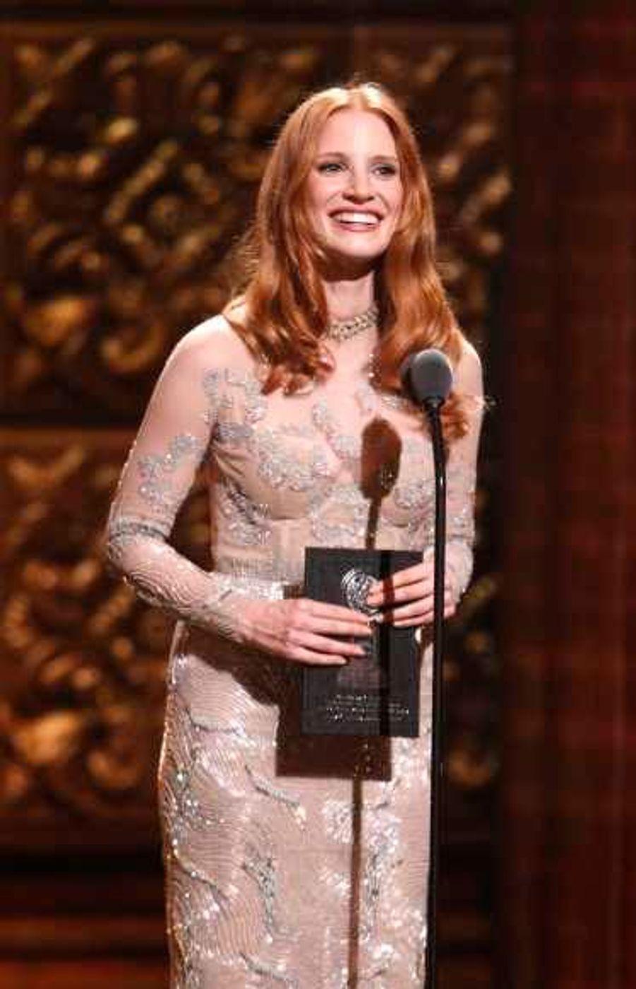 """L'actrice, qui a remis un prix, sera à la rentrée sur les planches avec une nouvelle version de la pièce """"The Heiress""""."""