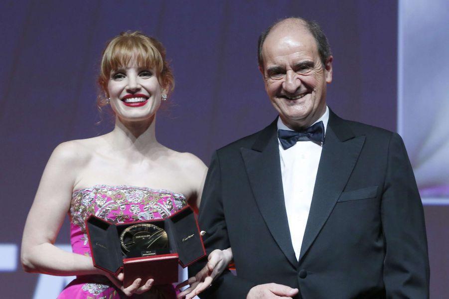 Jessica Chastain et Pierre Lescure