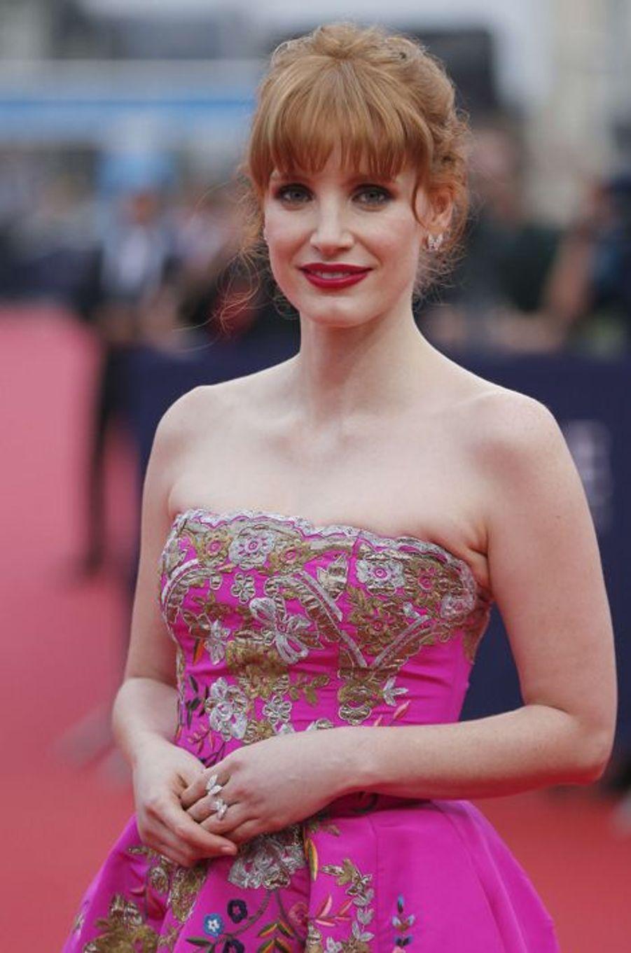 Jessica Chastain, un ange à Deauville