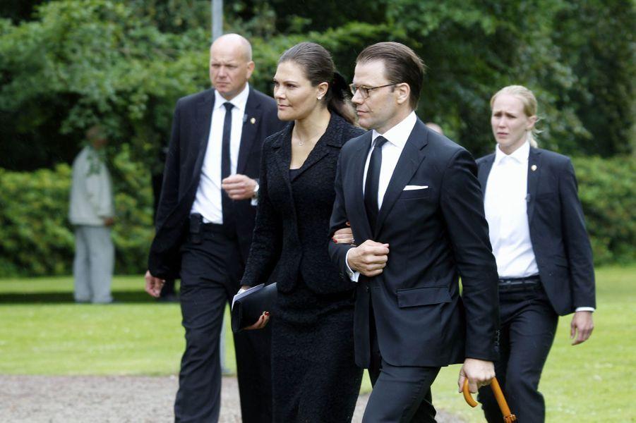 La princesse Victoria de Suède et le prince Daniel à Trolle-Ljungby, le 12 juillet 2017
