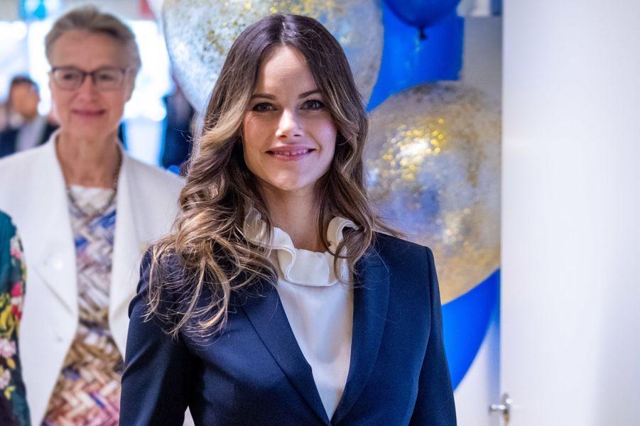 La princesse Sofia de Suède à l'hôpital Karolinska à Solna, le 5 octobre 2018