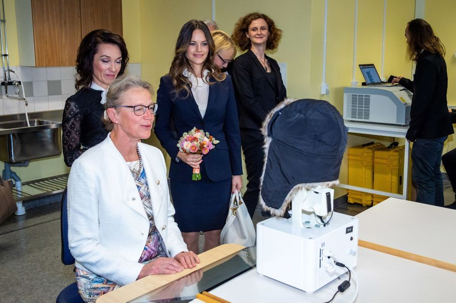 La princesse Sofia de Suède à Solna, le 5 octobre 2018