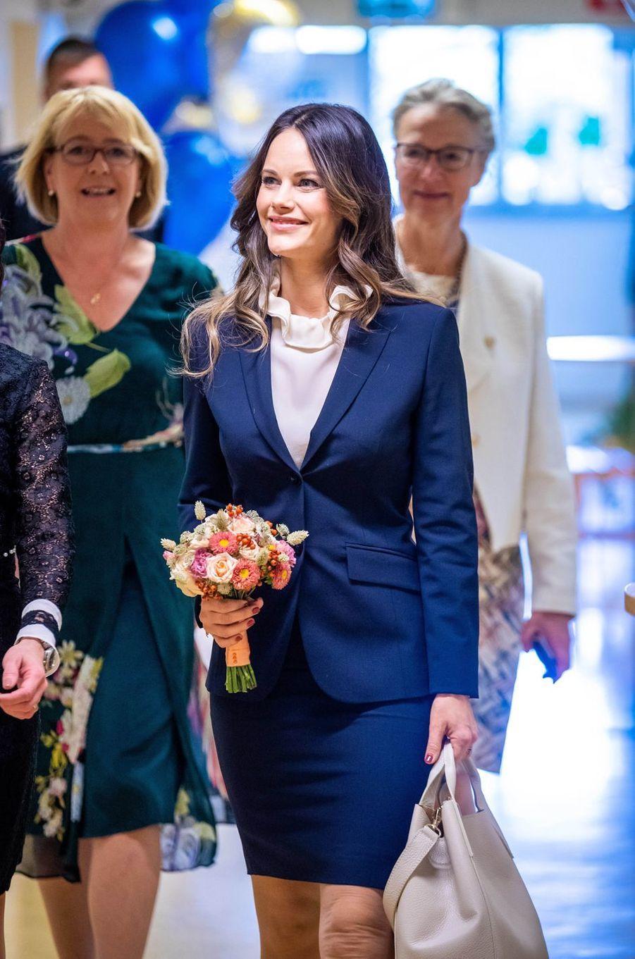 La princesse Sofia de Suède radieuse à Solna, le 5 octobre 2018