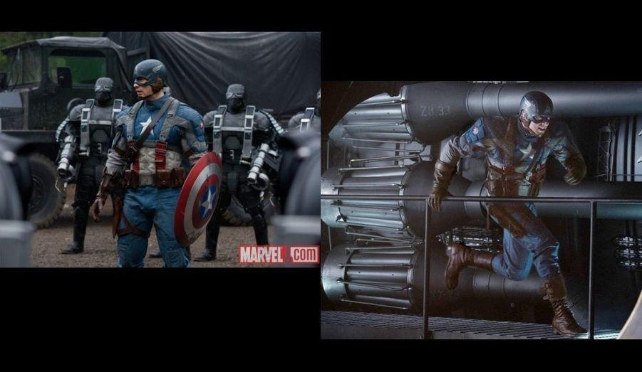De nouvelles images du film Captain America ont été dévoilées par la société Marvel. Le film de Joe Johnston, avec Chris Evans, est attendu le 17 août.
