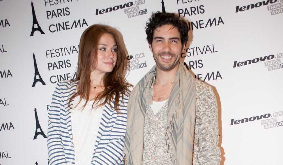 """Tahar Rahim et Emilie Dequenne à la première du film """"A perdre la raison"""" à l'occasion du 10e Festival Paris Cinéma au MK2 Bibliothèque."""