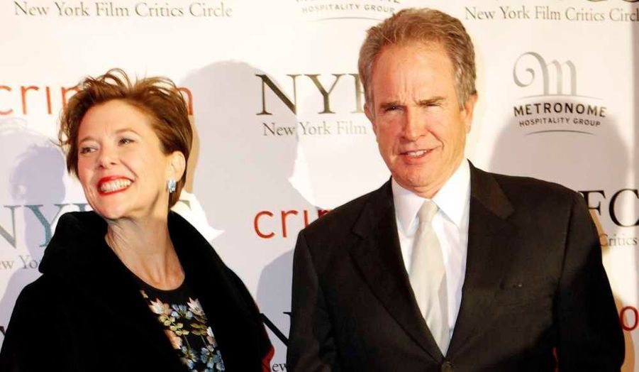 L'actrice Annette Bening et son mari Warren Beatty à la cérémonie des New York Film Critics Circle Awards dans la capitale américaine.