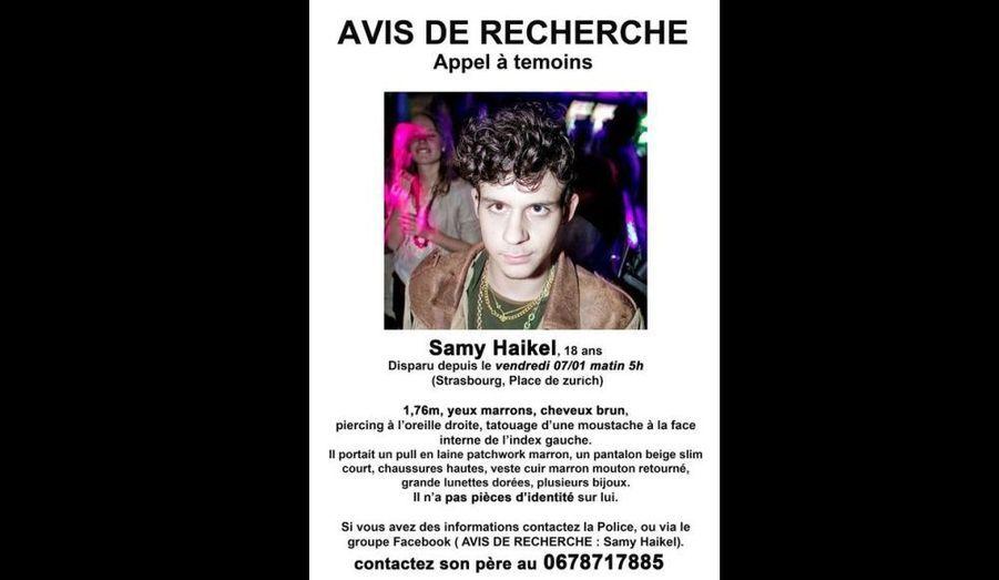 Un étudiant de 18 ans s'est volatilisé dans la nuit de jeudi à vendredi à la sortie d'une boîte de nuit de Strasbourg, selon les informations recueillies par Europe 1. La police et les proches sont fortement mobilisés pour le retrouver.