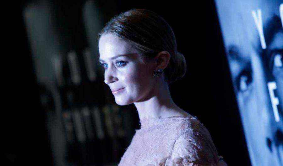 Emily Blunt à la première new-yorkaise du film L'agence, de George Nolfi, avec Matt Damon.
