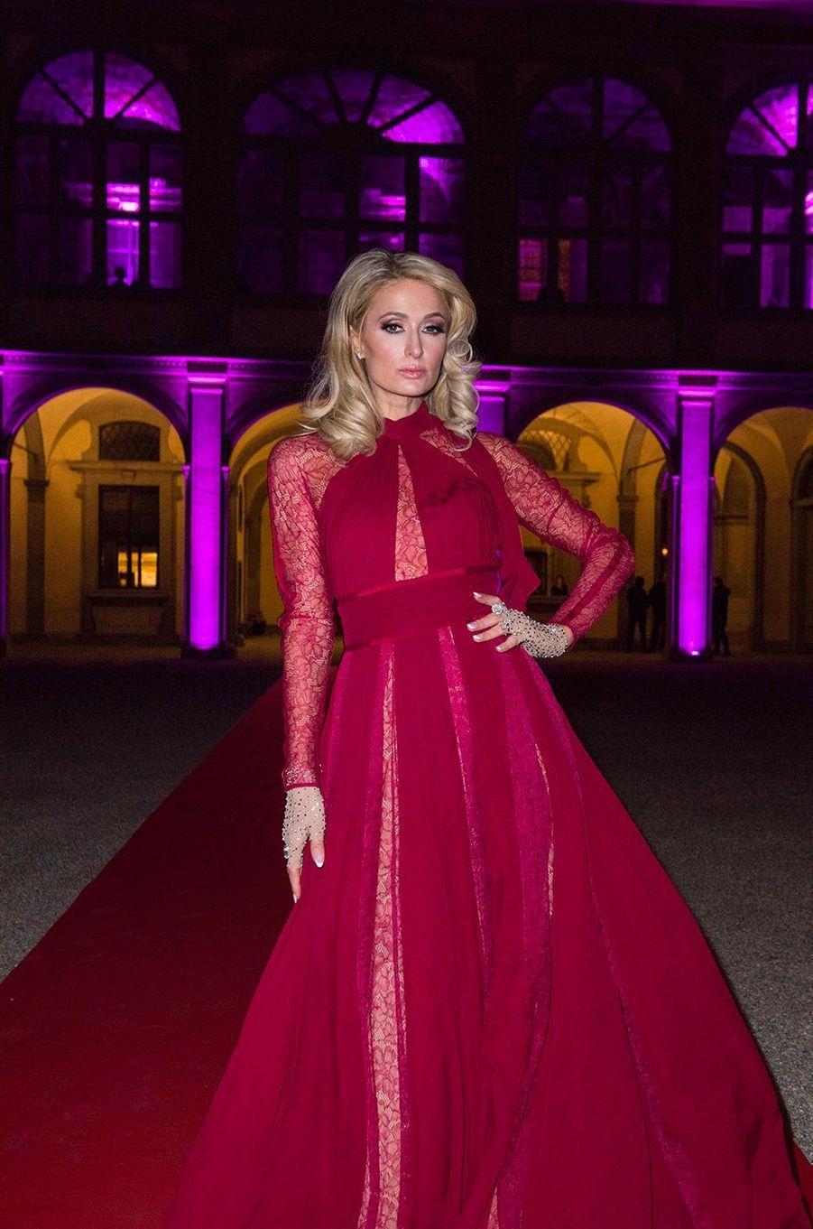 Paris Hilton à Florence, mercredi 9 janvier