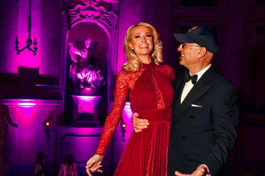 Paris Hilton et Andrea Panconesi à Florence, mercredi 9 janvier