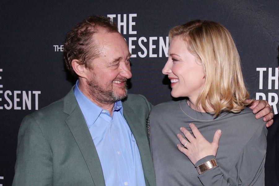 Andrew Upton et Cate Blanchet à New York en 2017.En couple depuis 20 ans, Cate Blanchet et Andrew Upton travaillent également ensemble, ils ont notamment créé une société de production.