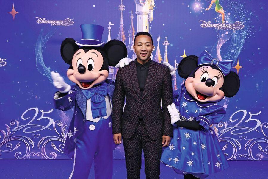 La célébration officielle du 25 mars avec le chanteur John Legend.