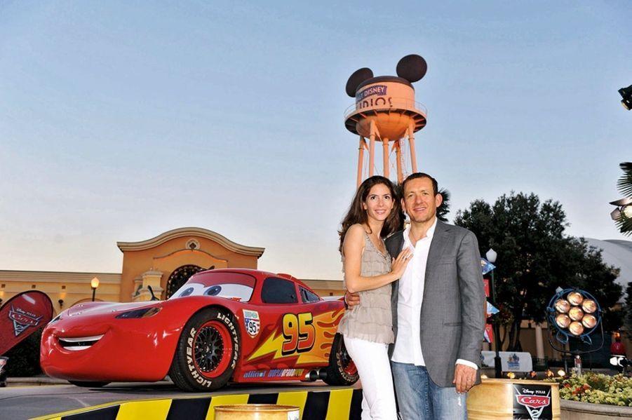 Dany Boon et sa femme, Yaël, à l'avant-première de « Cars 2 », en juillet 2011.