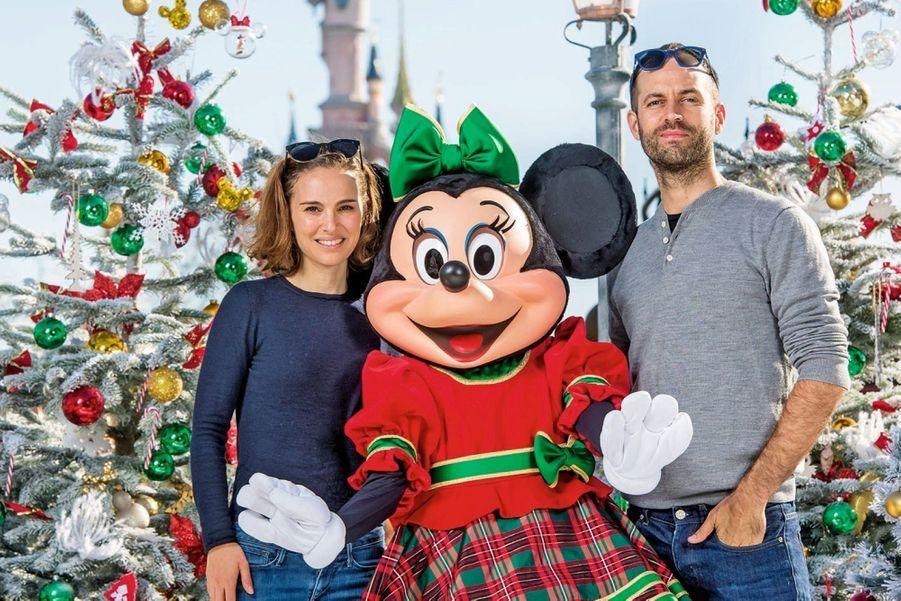 Natalie Portman et son mari, Benjamin Millepied, lancent la saison de Noël 2015.