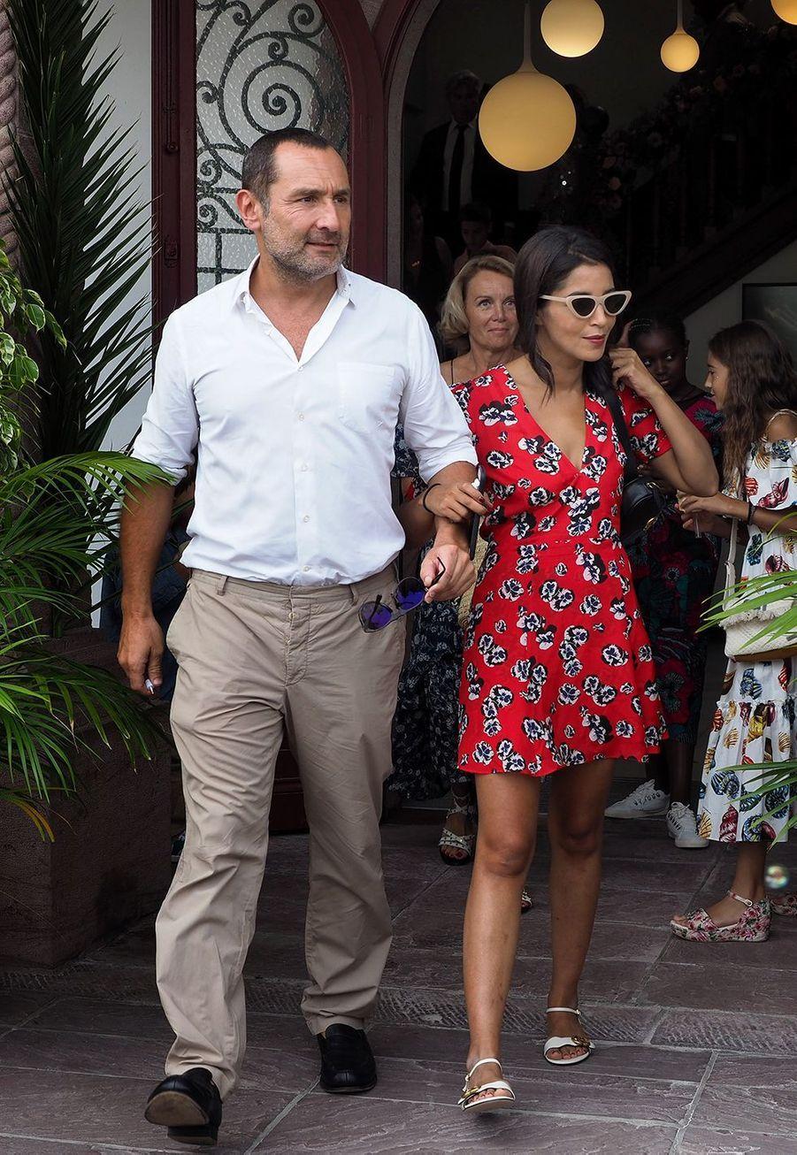 Gilles Lellouche et Leïla Bekthiau mariage de Vincent Cassel et Tina Kunakey en 2018 au Pays Basque
