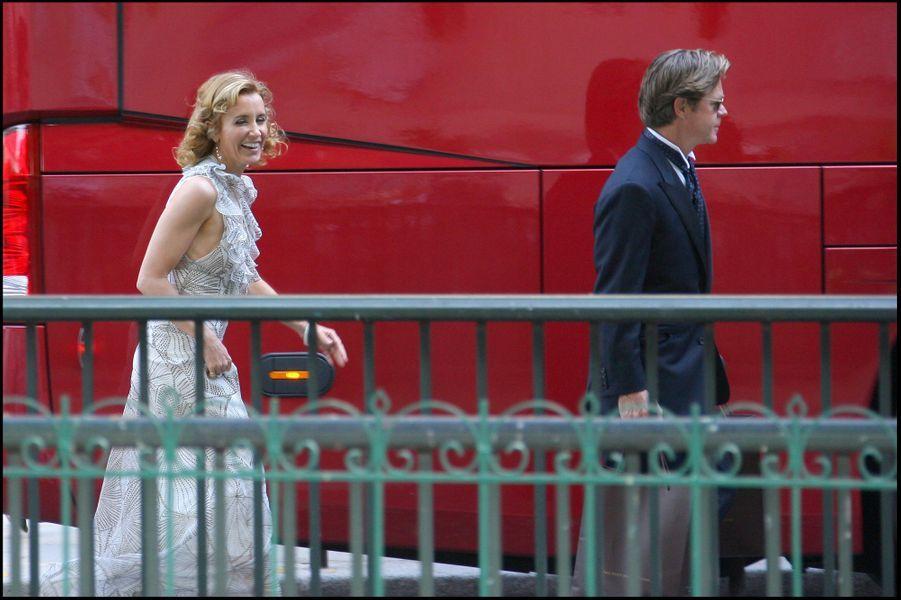 Felicity Huffman se rendau mariage d'Eva Longoria et Tony Parker à Paris en 2007.