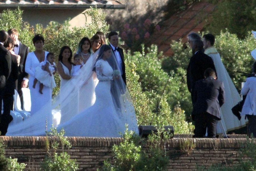 Mariage de Kim Kardashian et Kanye West en 2014 à Florence