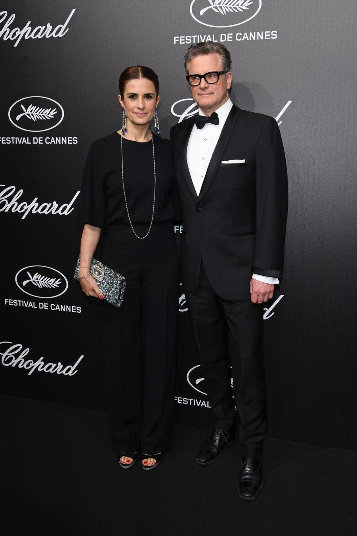 Colin Firth et son épouse Liviaà la soirée du Trophée Chopard lors du 72e Festival de Cannes le 20 mai 2019