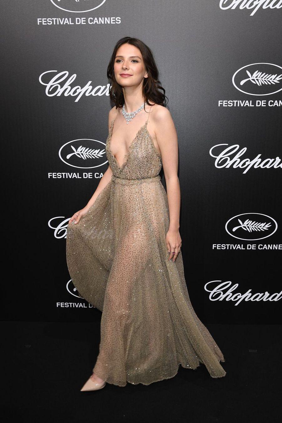 Joséphine Japyà la soirée du Trophée Chopard lors du 72e Festival de Cannes le 20 mai 2019