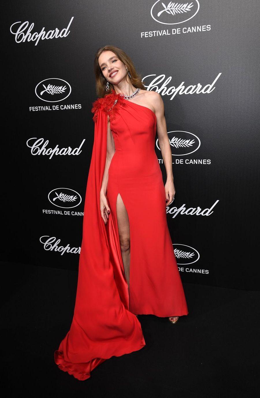 Natalia Vodianovaà la soirée du Trophée Chopard lors du 72e Festival de Cannes le 20 mai 2019