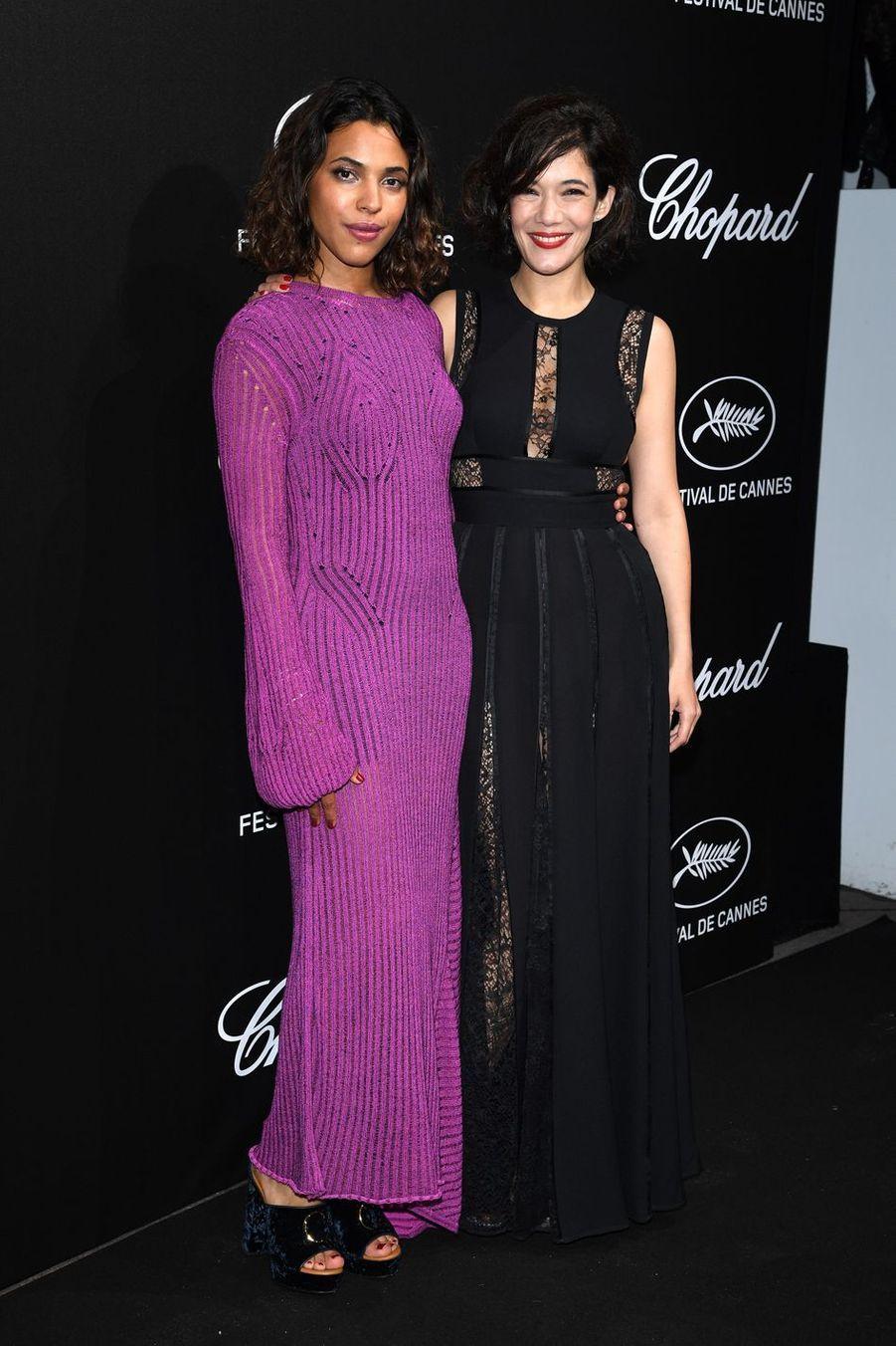 Zita Hanrot et Mélanie Douteyà la soirée du Trophée Chopard lors du 72e Festival de Cannes le 20 mai 2019