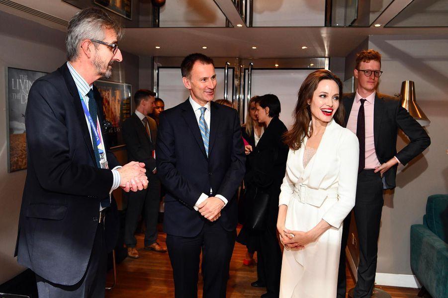 Angelina Jolie à Londres, le 23 novembre 2018.