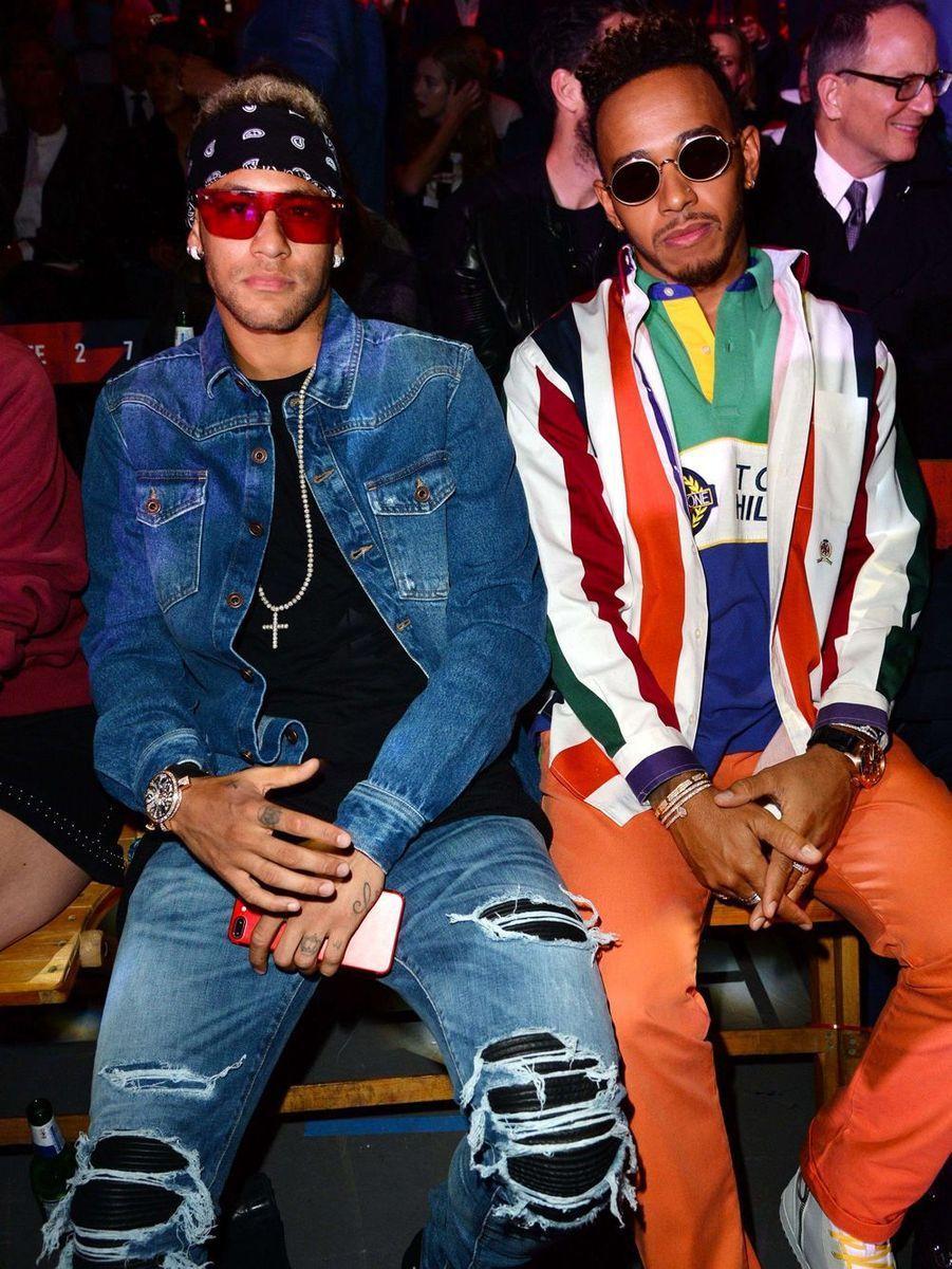 Neymar et Lewis Hamilton au défiléTommy Hilfiger