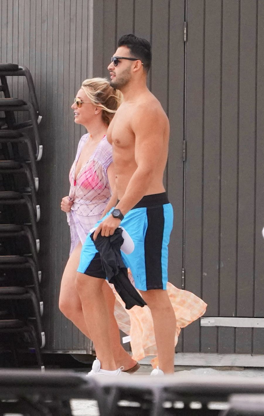 Britney Spears et son compagnon Sam Asghari à Miami le 9 juin 2019